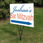 Bar Mitzvah Personalized Directional Sign