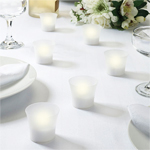 Battery Operated Votive Candles - 6 pcs