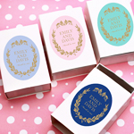 Belle Damask Oval Personalized Labels - 10 pcs
