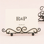 Black Ornate Wire Stationery Holder - 6 pcs