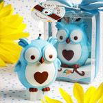 Blue Owl Candle Favor