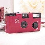 Burgundy Single Use Camera - Solid Color Design