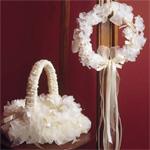 Camilla Flower Girl Basket and Head Wreath