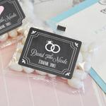 Chalkboard Wedding Personalized Jelly Bean Packs