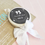 Chalkboard Wedding Personalized Lollipop Favors