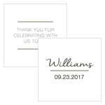 City Style Square Favor Tag