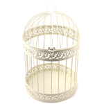 Ivory Classic Round Decorative Birdcage Card Holder
