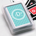 Classy Wreath Personalized Playing Cards