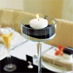 Colored Floating Candles - 6 pcs