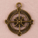 Compass Charms - Set of 12