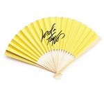 Corporate (Logo) Personalized Solid Color Paper Hand Fans