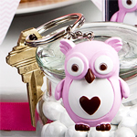 Pink Owl Key Chain Favors