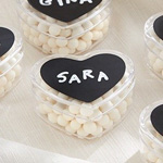 DIY Design Chalk Heart Labels & Heart Favor Holder (Set of 12)