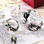 Diamond Crystal Paperweight MEDIUM