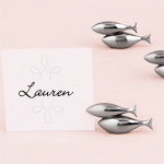 Double Fish Place Card Holders - 8 pcs
