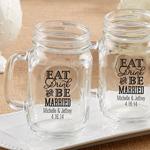 Eat, Drink & Be Married Personalized 16 oz. Mason Jar Mug