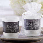 Eat, Drink & Be Married Personalized Frosted Glass Votive
