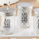 Eat, Drink & Be Married Personalized Printed Mason Jar (Set of 12)