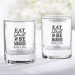 Eat, Drink & Be Married Personalized Shot Glass/Votive Holder