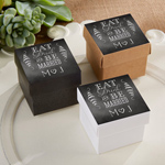 Eat, Drink & Be Married Personalized Square Favor Boxes (Set of 24)