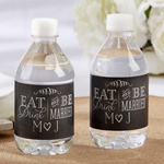 Eat, Drink & Be Married Personalized Water Bottle Labels