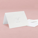 Elegant Monogram Simplicity Thank You Card With Fold