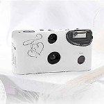 Enchanted Hearts White And Silver Single Use Camera