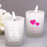 Exclusive Personalized Frosted Glass Candle Holder