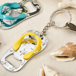 Flip Flop Bottle Opener and Key Chain