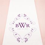 Flourish Monogram Personalized Aisle Runner