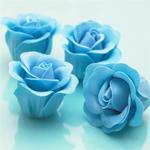 Blue Rose Bud Petals Scented Soap - 9 pcs