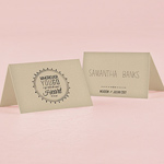 Free Spirit Place Card With Fold