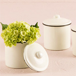 French Proven�al Mini Decorative Canister with Lid - 4 pcs