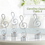 G-Clef Place Card Holders - 4 pcs