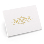 Gold Baroque Guest Book