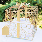 Gold Gift Reception Card Holder