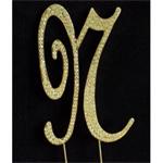 Gold Letter N Monogram Cake Toppers