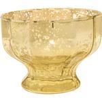 Gold Mercury Glass Vase (flat edge sundae design)