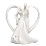 Heart Arch Bridal Couple Figurine