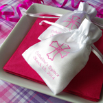 Her Personalized Small Satin Favor Bag