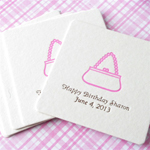 Her Personalized Square Coasters
