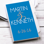 His or Hers Personalized Notebook Favor