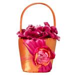 Hot Pink & Orange Flower Girl Basket