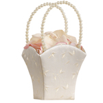 Embroidered Flower Girl Baskets