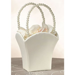 Ivory Flower Basket