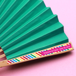 Rainbow Personalized Hand Fan Labels - 18 pieces