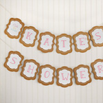 """Kate's """"Cute as a Button"""" Kraft Personalized Banner"""