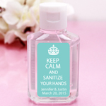 Keep Calm Personalized Hand Sanitizer