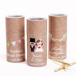 Kraft Wedding Theme Personalized Barrel Matches