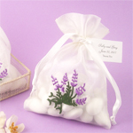 Lavender Embroidered Organza Bags